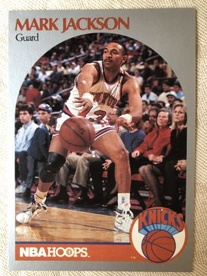 1990 NBA HOOPS #205 MARK JACKSON W/ Menendez Brothers in Background - Mint Condition for Sale in Northport, NY