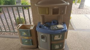 Photo Kids play kitchen used outdoors
