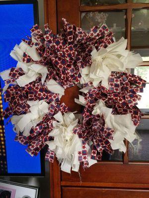 patriotic rag wreath for Sale in Lynchburg, VA