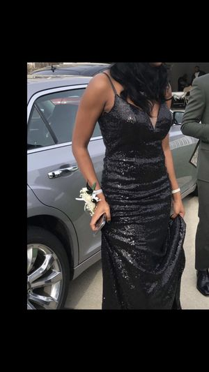 Black sequence prom dress. for Sale in Cleveland, OH