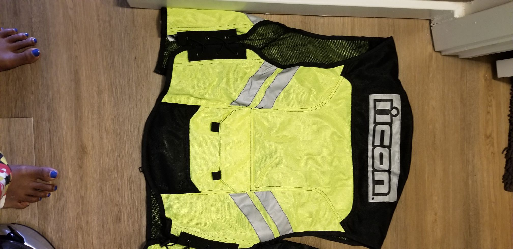 Motorcycle riding jacket and Reflective vest
