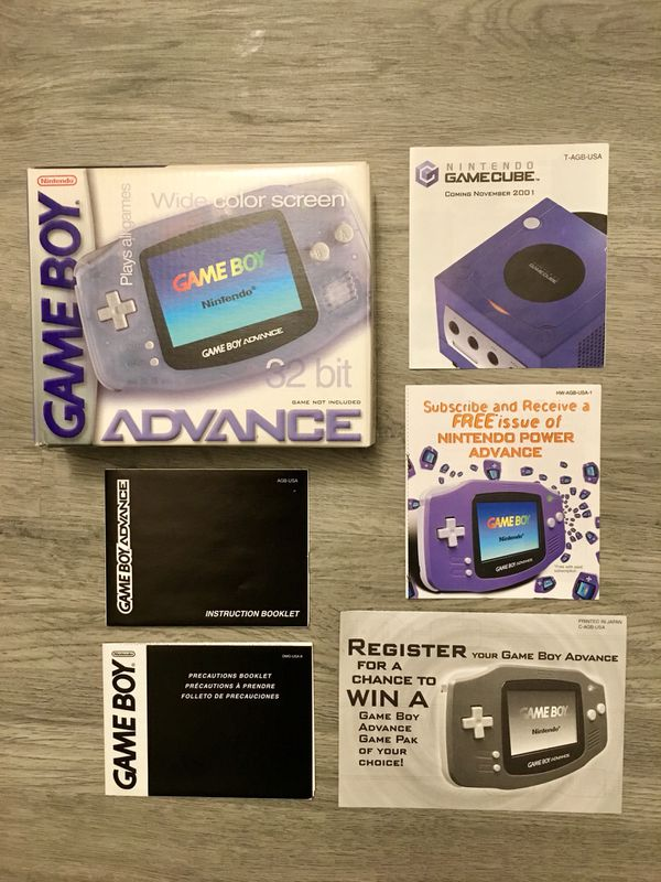 Original Gameboy Advance Handheld Console Box Only With All