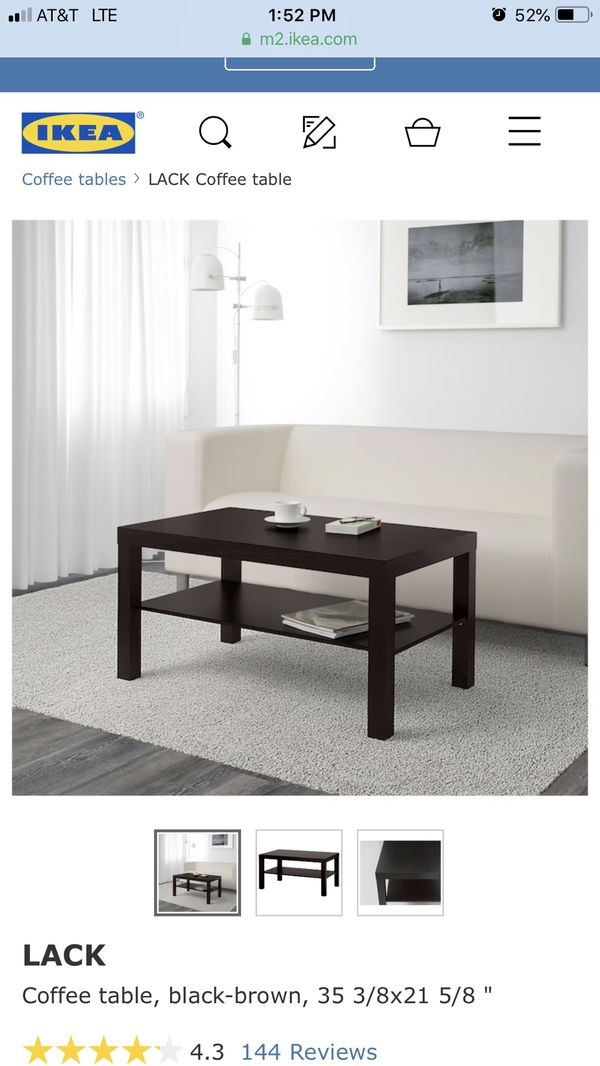 Ikea Lack Coffee Table Black Brown New For In Pacifica
