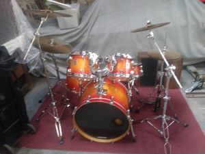 Premier drum set with cymbals hi-hats and kick pedal for Sale in Winter Park, FL
