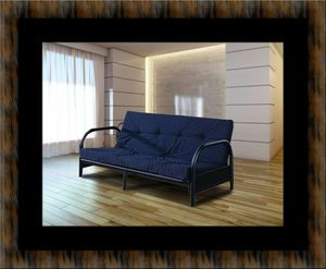Black futon frame with mattress for Sale in Greenbelt, MD