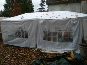 Wedding tent covers with sideing for parties weddings or storage no frames mostly canvases for Sale in Seattle, WA