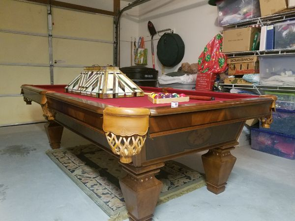 Cl Bailey Fischer Ft Pool Table Prestige Condition OBO - Cl bailey pool table