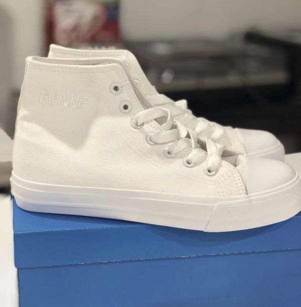 336faff3659 Ripndip high top shoes - brand new with box- white for Sale in New ...