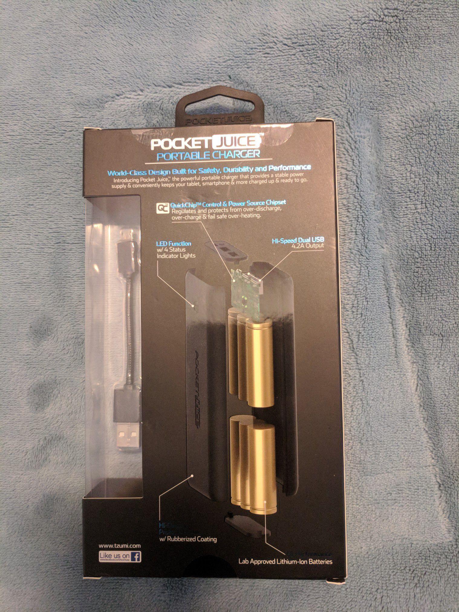 Brand New Tzumi Pocketjuice 20,000 mAh Power Bank