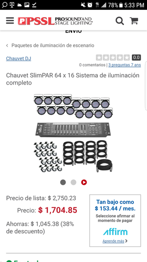 Chauvet slimpar 64 for Sale in OH, US