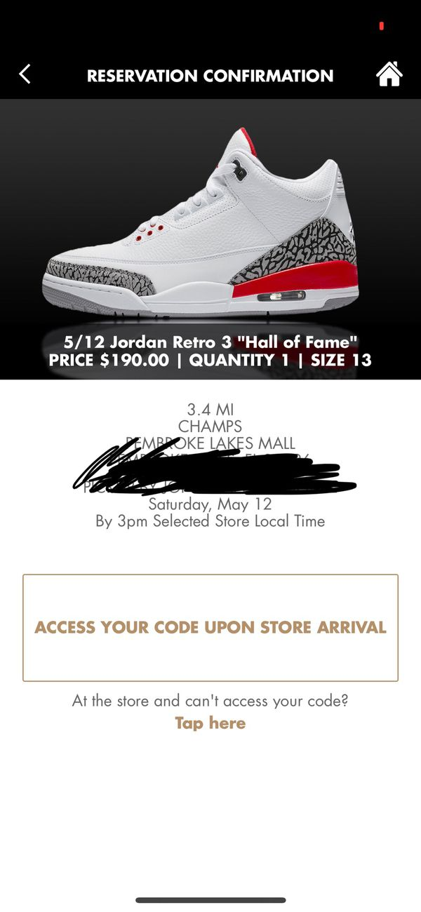 "the best attitude ff36c 890c8 Air Jordan retro 3 "" hall of fame / Katrina "" size 13 for Sale in Miramar,  FL - OfferUp"