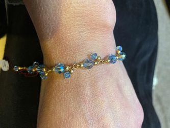 Baby blue Swarovski bracelet Thumbnail
