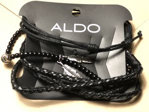 Aldo men's bracelet/ leather and beads for Sale in Leesburg, VA