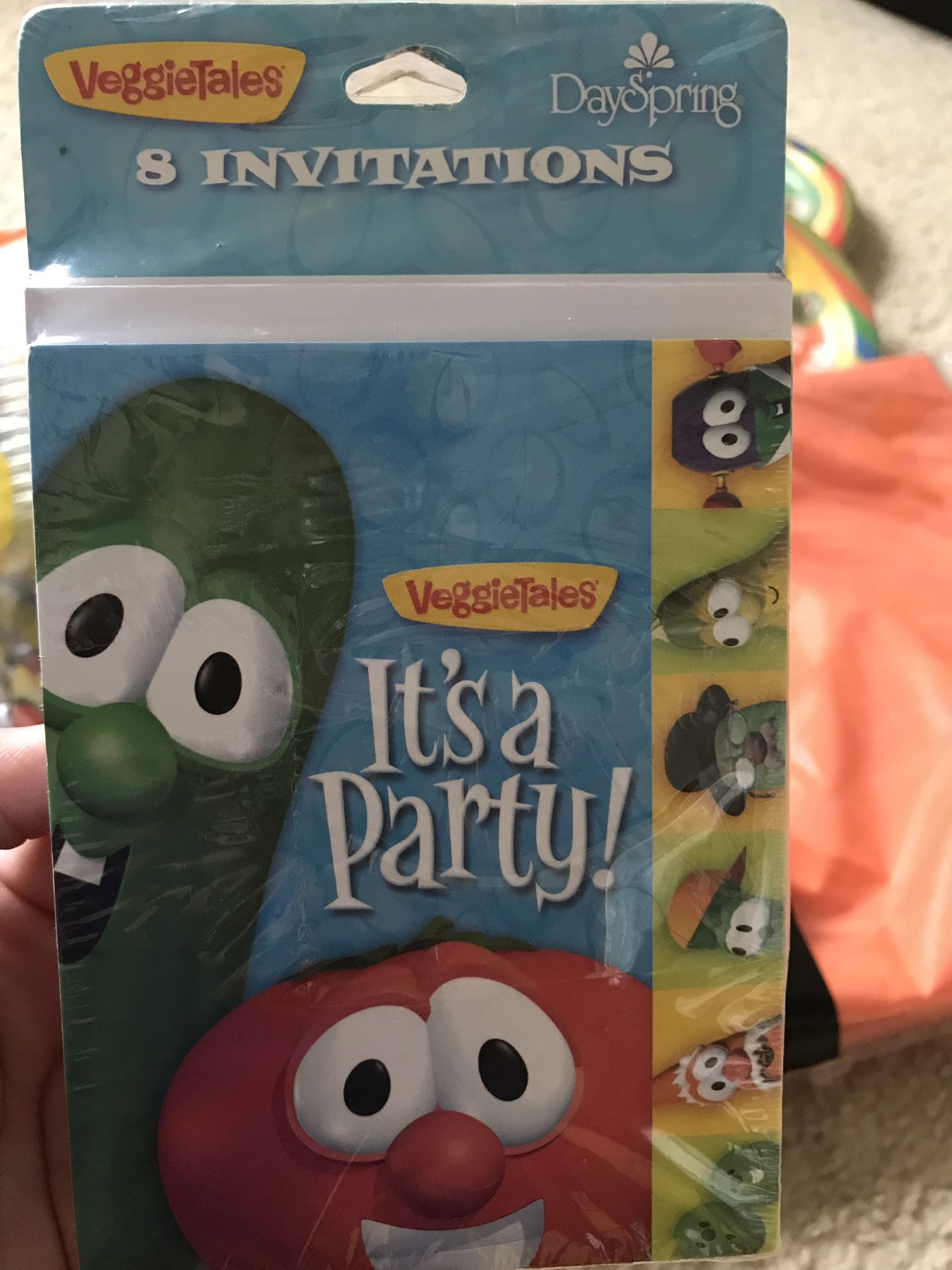 Veggie tales party decoration