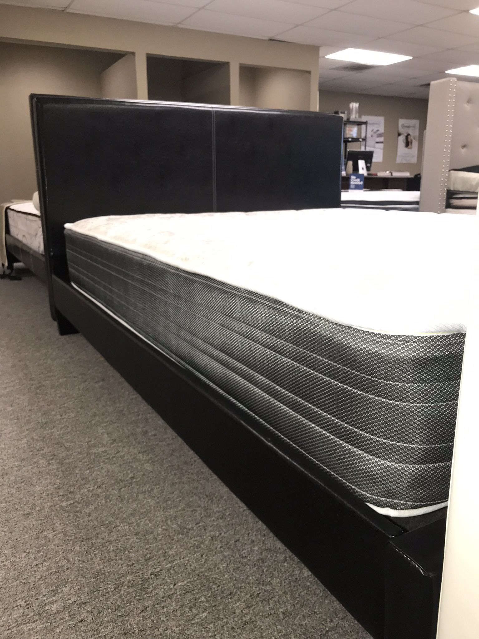 Queen Size Platform Bed With Mattress And Free Delivery