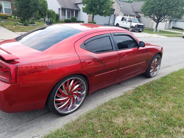 2006 Dodge Charger Hemi Fast Candy Red On 24s Two Set Of Rims For