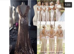 Sequin Long Bridesmaids or prom gown dress for Sale in Cleveland, OH