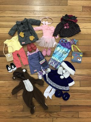 "Lot of clothing & accessories for 18"" dolls for Sale in Herndon, VA"