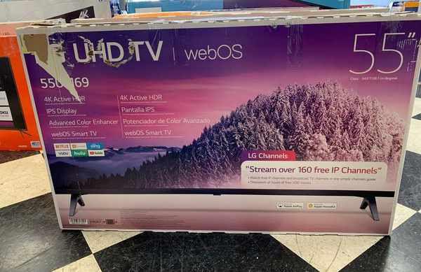 "NEW OPEN BOX LG 55"" UHD TV 9TC"