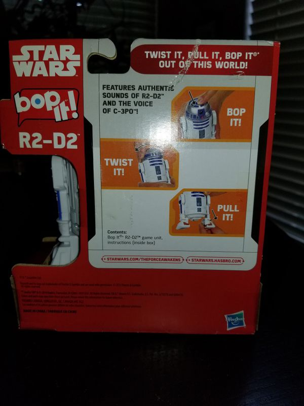 Star Wars R2 D2 Bop It Game With Authentic Droid Sfx Real Voice Of