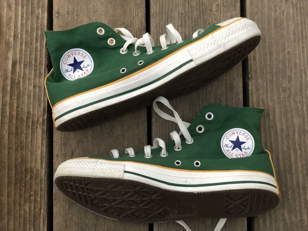 42a9350a9aa31 Converse Shoes Green / Yellow Oakland A's Athletics Oregon Packers Men's  Size 9.5 Women's 11.5 New for Sale in San Jose, CA - OfferUp