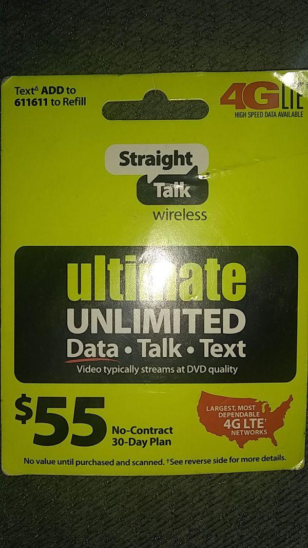 Straight talk refill data talk text for Sale in Phoenix, AZ - OfferUp