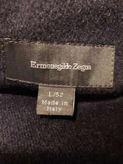 Zegna Cashmere Lined Coat L Thumbnail