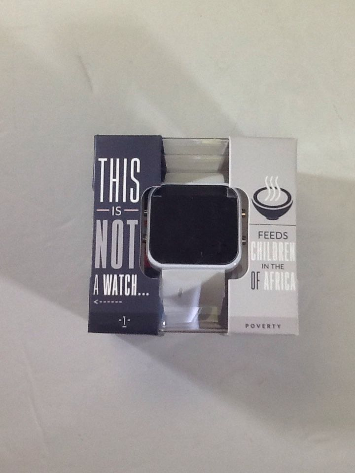 1Face Hunger Unisex Digital Watch White