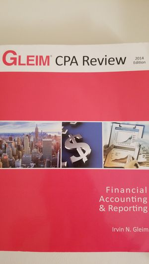 Gleim CPA Review - Financial Accounting & Reporting, 2014 Edition, Irvin N.Gleim for Sale in Alexandria, VA