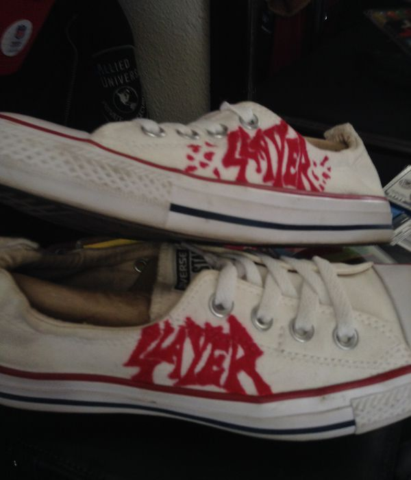 dfb19ef734 SLAYER CONVERSE ALL STARS....WOMENS sz 8 for Sale in San Francisco ...
