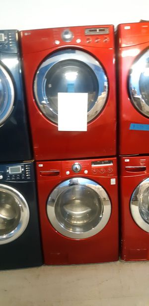 Photo LG FRONT LOAD WASHER AND DRYER SET WORKING PERFECTLY 4 MONTHS WARRANTY