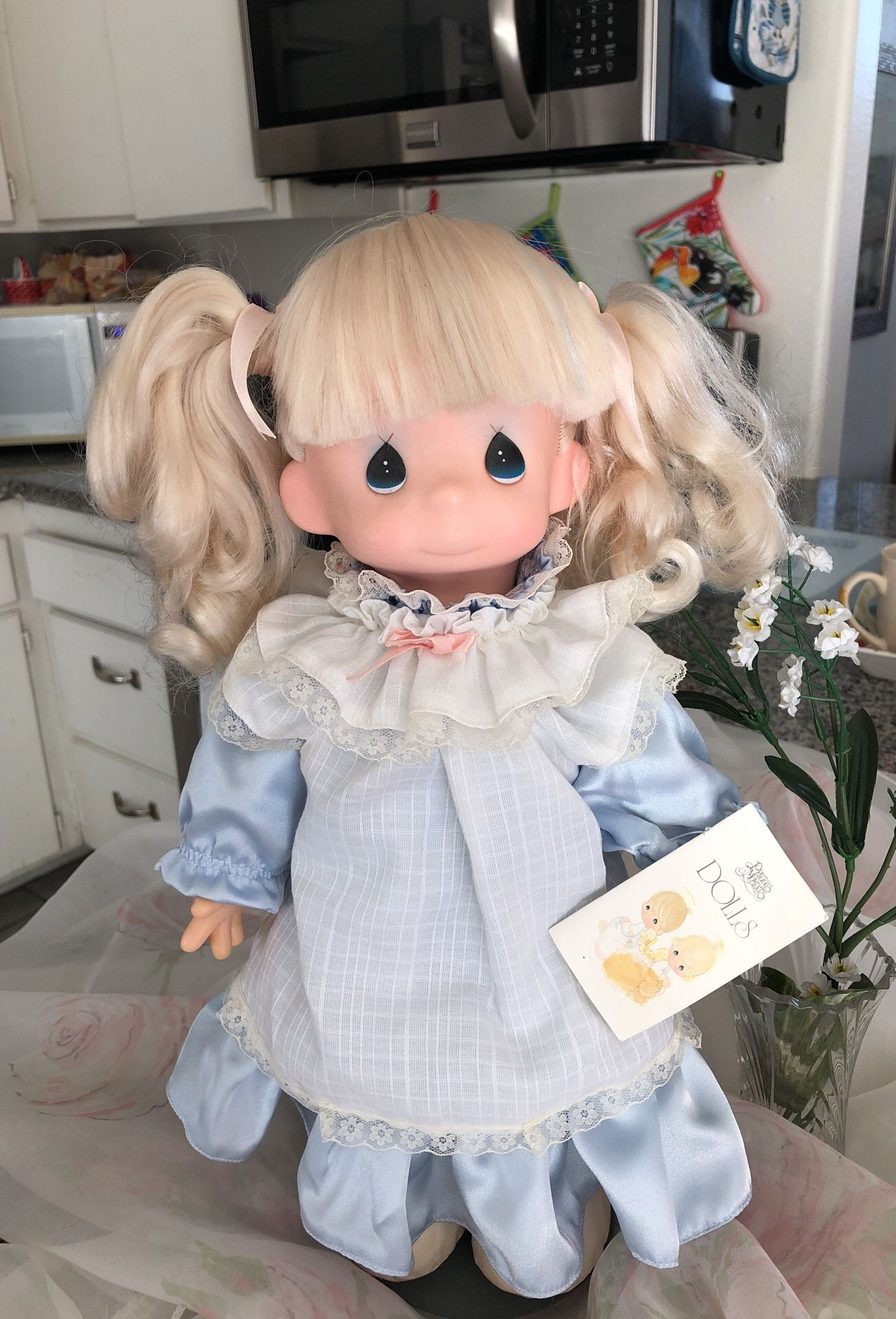 Precious moments vintage Barbie not included but if you're interested she's 250 getting back to the precious moment all in perfect condition very cle