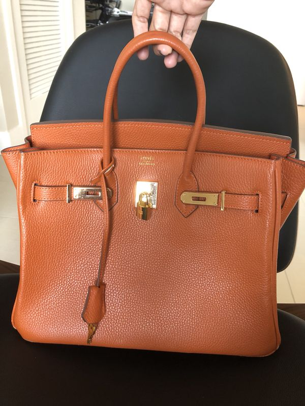 8d01470902ee Hermes Birkin 35 Orange color Gold Hardware - All Leather - Pristine  condition - replicaaa