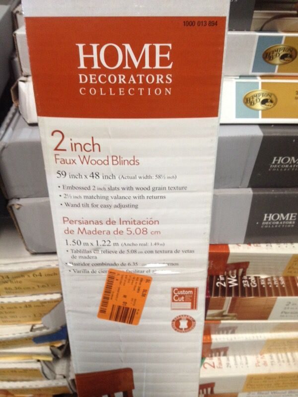 Home Decorators Collection 59 X 48 Faux Wood Blinds For Sale In