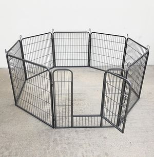"""Photo New in box $85 Heavy Duty 32"""" Tall x 32"""" Wide x 8-Panel Pet Playpen Dog Crate Kennel Exercise Cage Fence"""