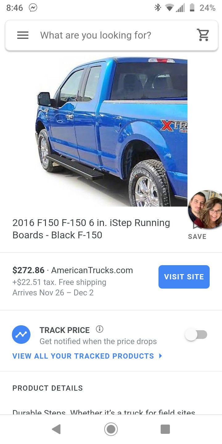 2015 2016 2017 2018 2019 Ford f150 gently used set of running boards/ side steps