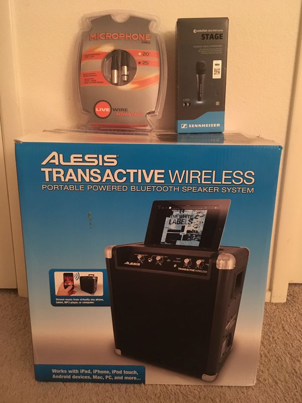 Complete PA system - Speakers, Mic, and Mic cable! Portable speaker with  bluetooth! Brand new, un-opened, factory sealed! for Sale in Las Vegas, NV  -