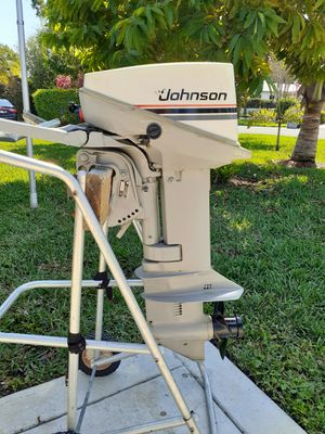 Photo 15hp Johnson Outboard motor