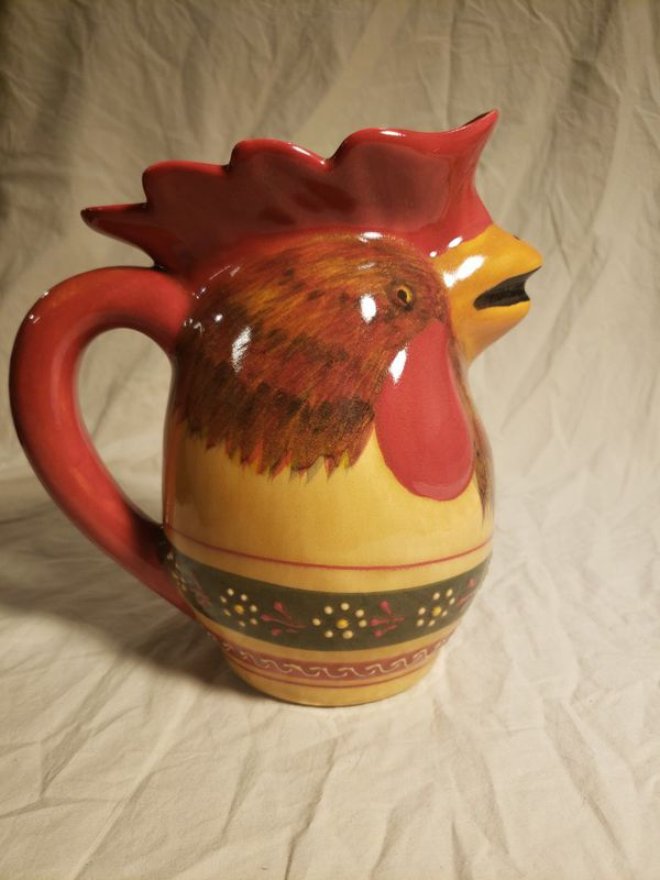 Hand Painted Rooster Pitcher For Sale In Denver Co Offerup