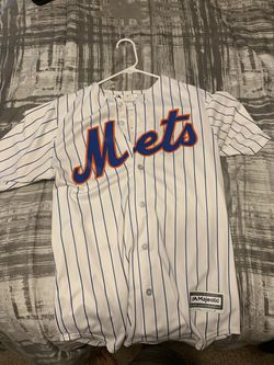Mets pinstripe jersey. Adult small Thumbnail