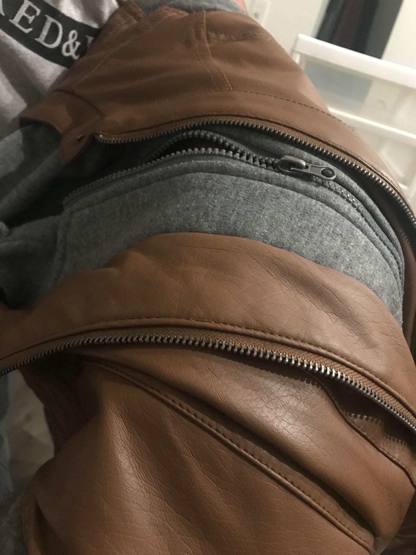 Pleather brown jacket