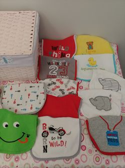 All Bibs and Burp Clothes do not have stains and are in great condition. Selling in lots Thumbnail