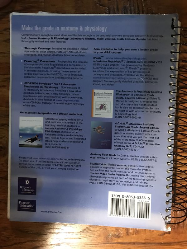 Human Anatomy & Physiology Laboratory Manual Main Version 6th ...