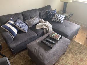 Couch Sectional Ottoman Chair Pillows For In Indianapolis
