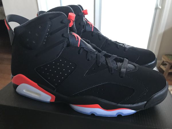 new style 0038b 9d1b4 Nike AIR JORDAN 6 VI RETRO OG Black INFRARED 384664 060 Size 13 for Sale in  Santa Clara, CA - OfferUp