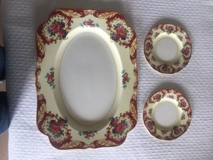 Vintage Crown Ducal Platter and 2 B/B Plates for Sale in Austin, TX