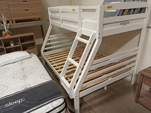 Photo Twin over Full Bunk Bed**MATTRESS INCLUDED**, White