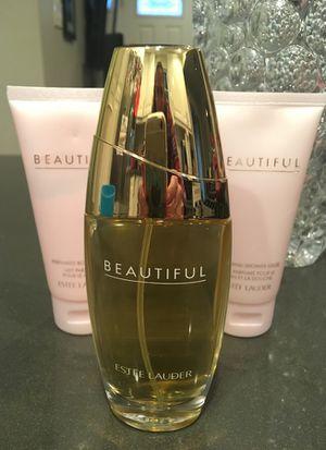 Estée Lauder Beautiful perfume 2.5 oz set for Sale in Scottsdale, AZ