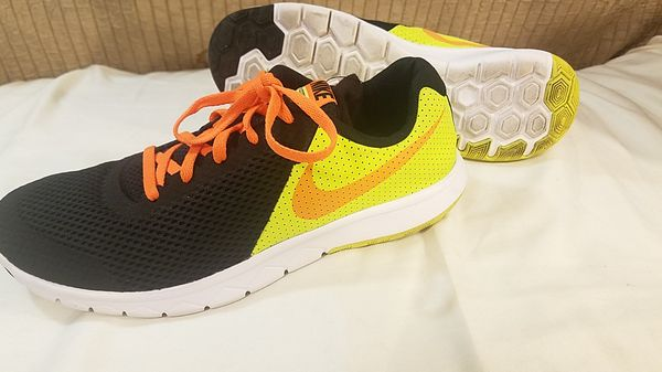 f62fdcb5165f Nike Kid s Flex Experience 5 844995 002 Black Orange-Volt for Sale ...