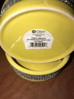 Gibson 4.5 inch Decorative Ceramic Pet Bowls (Pair) Thumbnail